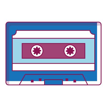 Retro cassette icon Ilustrace