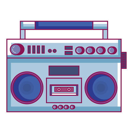 Radio cassette icon Illustration