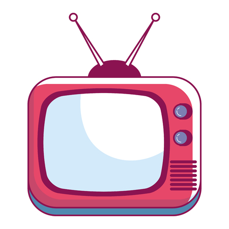 retro television isolated icon vector illustration design Illustration
