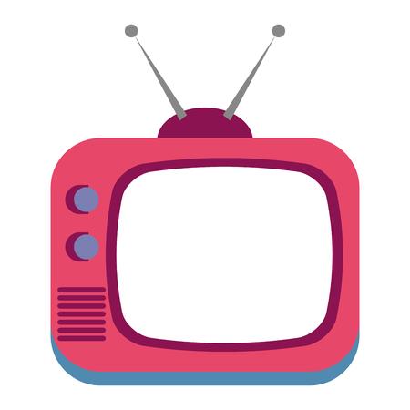 retro television isolated icon vector illustration design Illustration