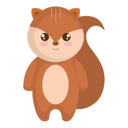 Cute and little chipmunk vector illustration design. Illustration
