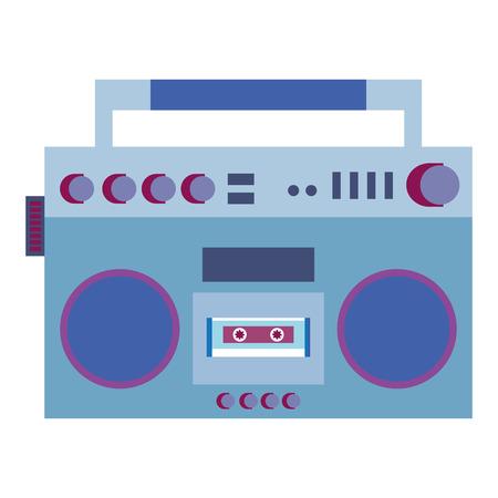 Radio cassette vintage style vector illustration design. Illustration