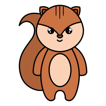 Cute and little chipmunk vector illustration design. Foto de archivo - 99733054