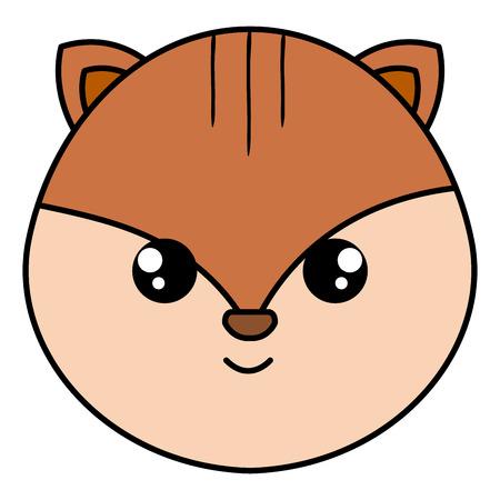 Little head chipmunk icon