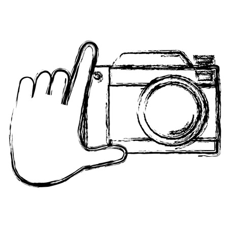 Hand with camera icon