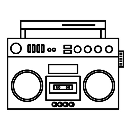radio cassette vintage style vector illustration design Ilustrace