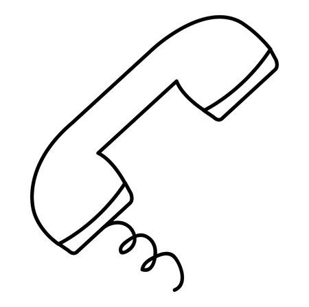 horn of old telephone vector illustration design