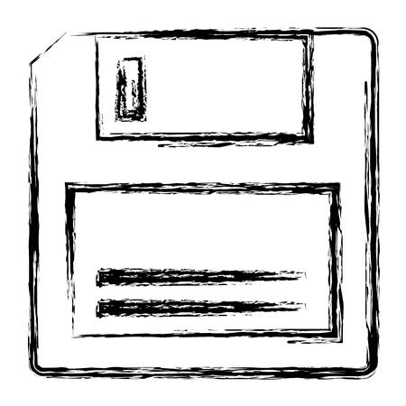 floppy disk retro icon vector illustration design