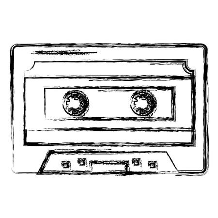 retro cassette isolated icon vector illustration design Ilustracja