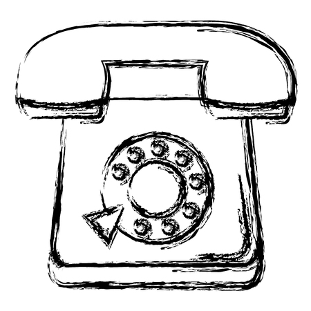telephone service isolated icon vector illustration design Illustration