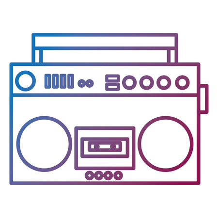 radio cassette vintage style vector illustration design Ilustracja