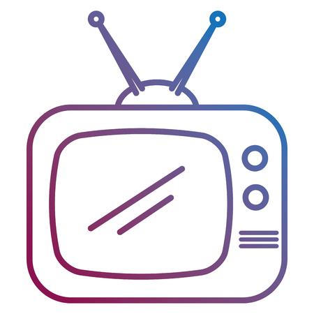 retro television isolated icon vector illustration design Ilustrace