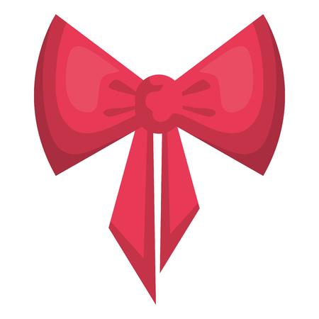 cute bow ribbon decorative vector illustration design