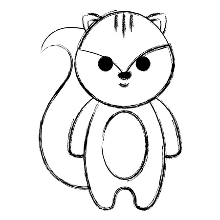 cute and little chipmunk vector illustration design