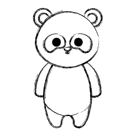 cute panda bear tender character vector illustration design Banque d'images - 99669964