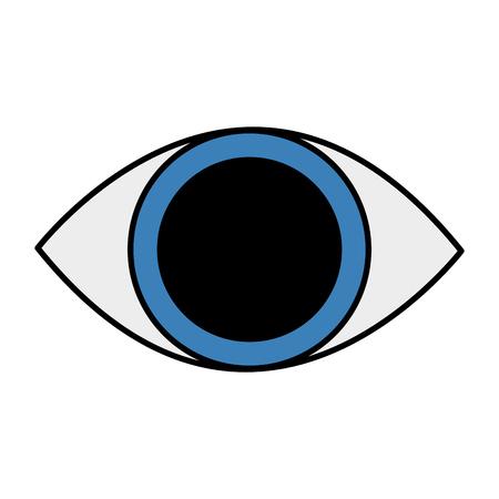 Human eye isolated icon vector illustration design Illustration