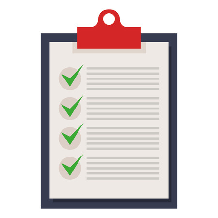 clipboard checklist isolated icon vector illustration design