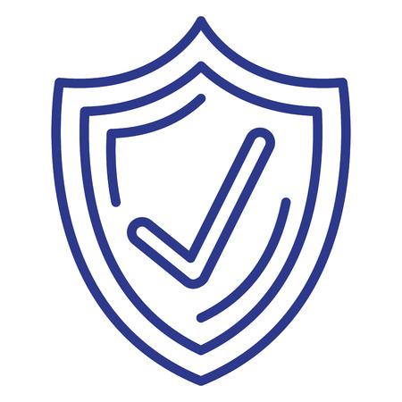 shield with ok symbol vector illustration design Illustration