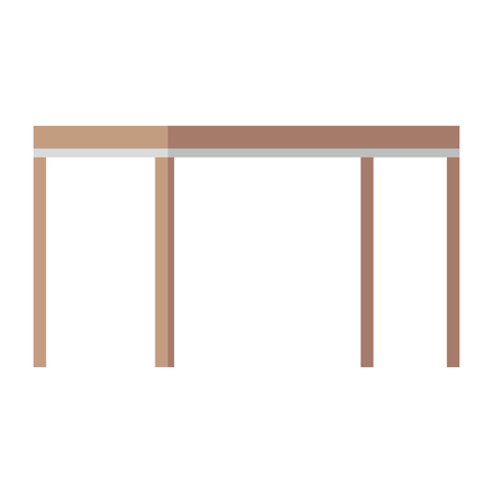 table wooden isolated icon vector illustration design Illustration