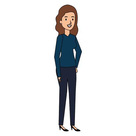businesswoman avatar character icon vector illustration design