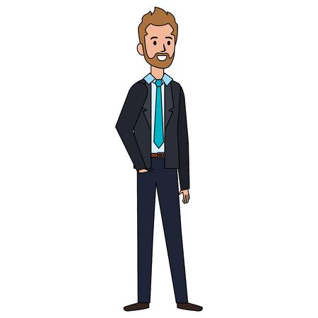 businessman with beard avatar character icon vector illustration design Ilustrace