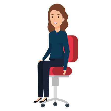 Businesswoman sitting in office chair