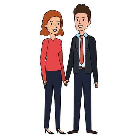 business couple avatars characters vector illustration design Stock Vector - 99665720