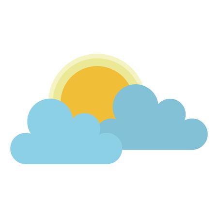 clouds sky with sun vector illustration design Illustration