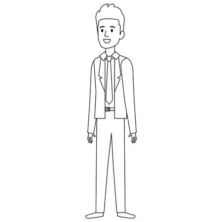 businessman avatar character icon vector illustration design Archivio Fotografico - 99670485