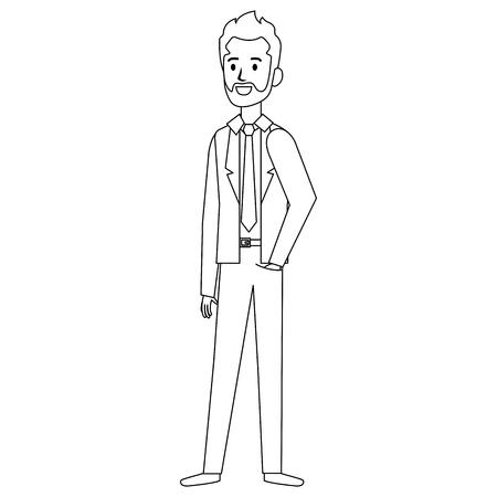 businessman with beard avatar character icon vector illustration design Archivio Fotografico - 99670489