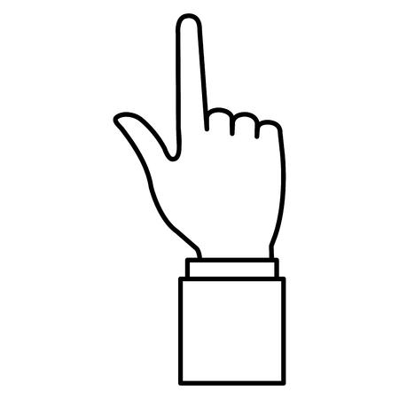 Ndice de mano humana icono aislado diseño de ilustración vectorial Foto de archivo - 99670528