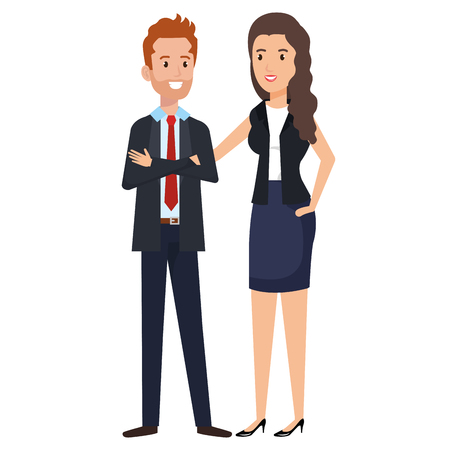 business couple avatars characters vector illustration design Stock Vector - 99699401