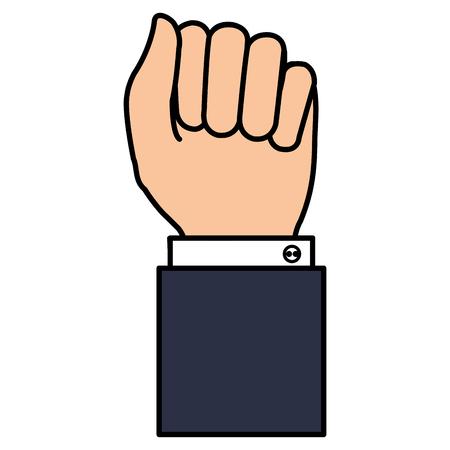 hand human fist icon vector illustration design Çizim