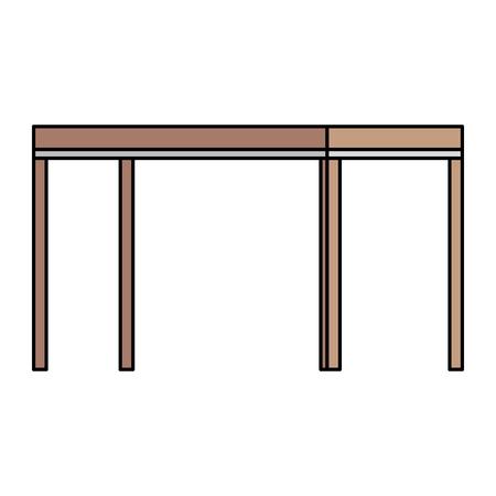 Tabelle Holz isoliert Symbol Vektor-Illustration , Design , Standard-Bild - 99683289