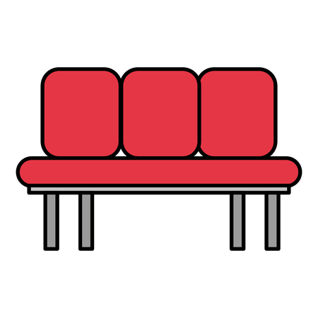 waiting room chairs icon vector illustration design Stock Vector - 99680985