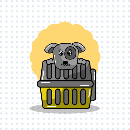 Cute dog and carrying animal pet vector illustration