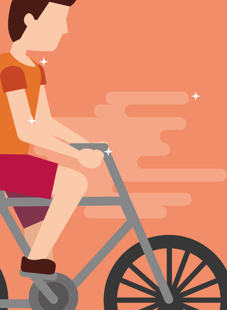 bicyclist man on a bicycle sport activity recreation vector illustration Illustration