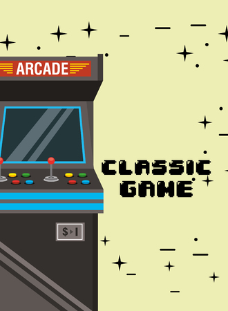 classic game video arcade machine vector illustration Ilustrace