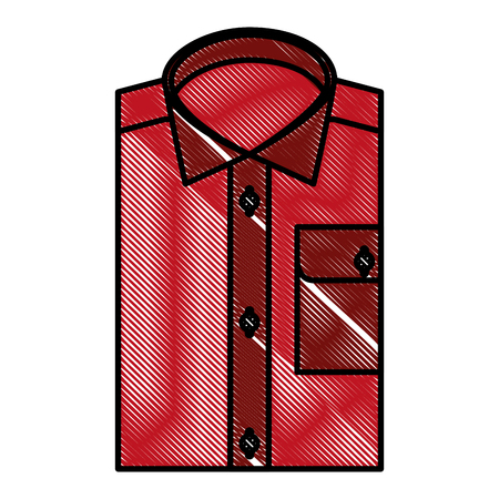 clothes men folded shirt fashion image vector illustration drawing