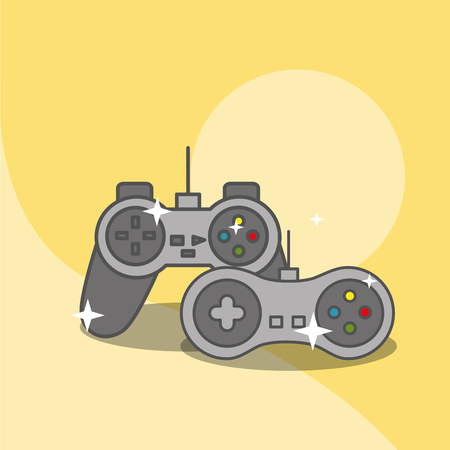 video game controllers wireless device vector illustration