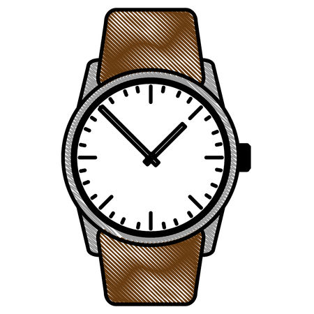 wrist watch elegant accessory gift vector illustration drawing
