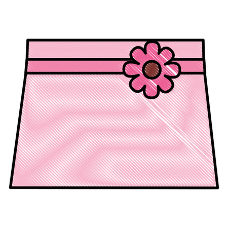 clothes baby girl fashion skirt flower vector illustration drawing