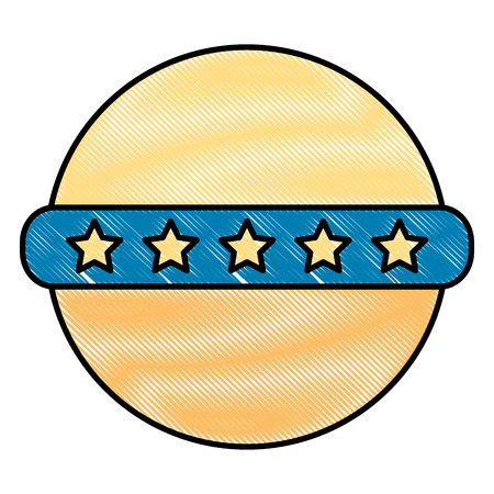 baby shower toy ball stars rubber vector illustration drawing Illustration