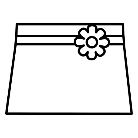 clothes baby girl fashion skirt flower vector illustration outline