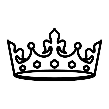 crown jewelry royal monarchy image vector illustration outline
