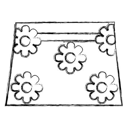 clothes baby girl fashion skirt flower vector illustration sketch Illustration