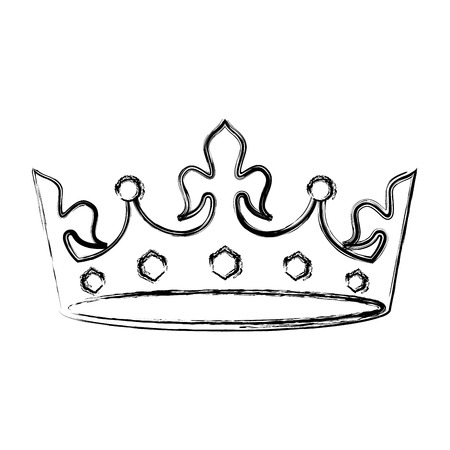 crown jewelry royal monarchy image vector illustration sketch
