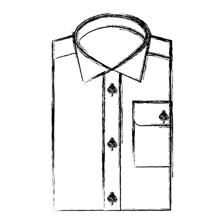 clothes men folded shirt fashion image vector illustration sketch