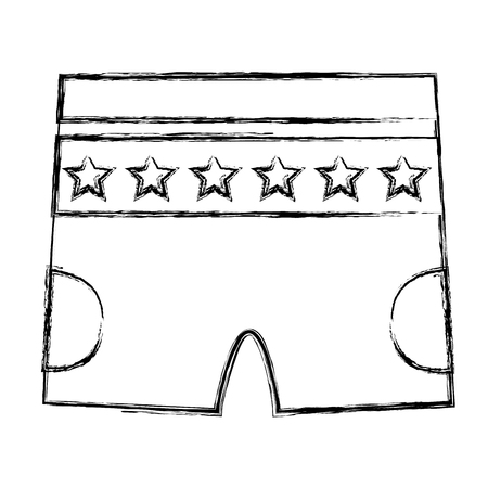 clothes shorts pants for baby boy with stars vector illustration sketch