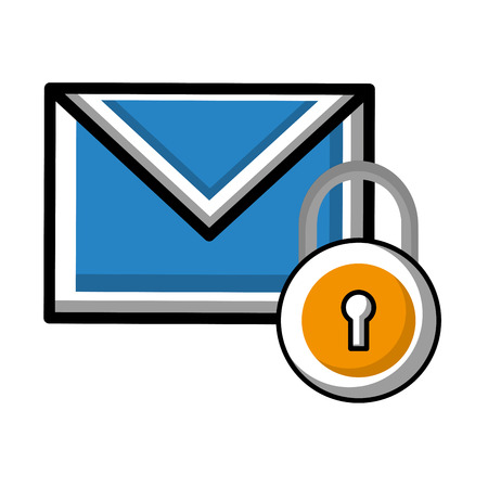 email message security data notification vector illustration